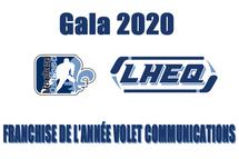 Franchise de l'année communications volet féminin, Gala LHEQ 2020