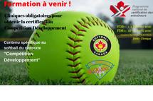 Inscription à la formation Compétition-Développement - Volet spécifique au softball