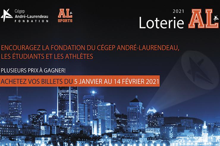 La Loterie AL 2021! Au profit de la Fondation du Cégep André-Laurendeau