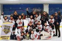 Photo officielle Prédateurs de Laval-Nord qui célèbrent victoire