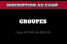 Groupes Camp Atome 2019