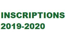 Inscriptions -  saison 2019-2020