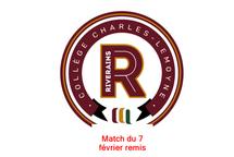 Match du 7 février remis