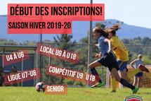 Début des inscriptions - Hiver 2019-20