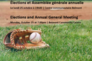Elections and Annual General Assembly - Monday October 25