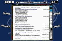Site Web de Baseball Québec - Section Santé