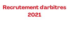 Nous recrutons des arbitres pour l'été 2021!