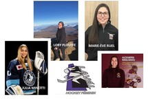 Les ambassadrices de l'association Hockey féminin Laval