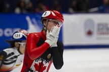 Kim Boutin a remporté ses troisième et quatrième médailles d'or de la saison à la Coupe du monde de Montréal, samedi et dimanche. — Photo Claude Rochon