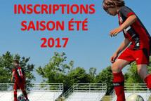 Le début des inscriptions pour la saison estivale 2017 est à nos portes!