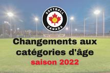Changements aux catégories d'âge pour la saison 2022