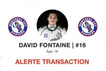 Transaction : David Fontaine s'amène à Montréal-Est