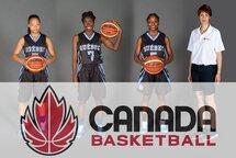 3 joueuses québécoises et une entraineure  sur l'équipe nationale féminine U16 !
