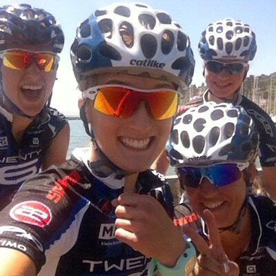 Lex Albrecht with the TWENTY16 Pro Cycling crew