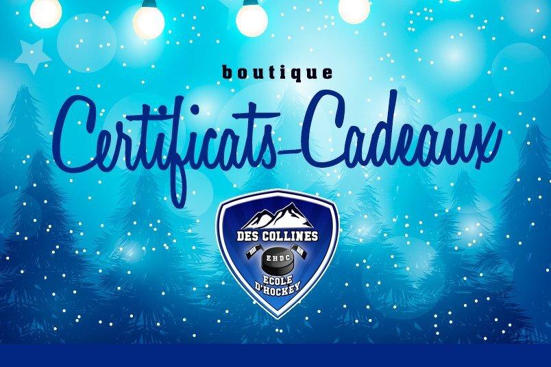 Offrez un Certificat-Cadeau de l'École de Hockey des Collines!