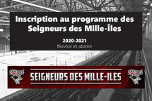 Inscription au programme des Seigneurs des Mille-Îles (novice et atome)