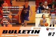 Bulletin #2 - Les nouvelles du Basketball Québécois