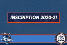 Inscription 2020-21