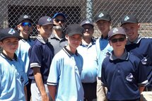 Nos jeunes arbitres accompagné par M. Denis Marleau de Baseball Québec Laurentides et André-Mathieu Côté, Président de l'association de baseball mineur Mirabel