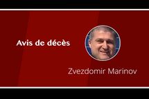 AVIS DE DÉCÈS : ZVEZDOMIR MARINOV