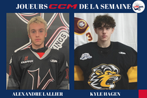 La Ligue de développement du hockey M18 AAA dévoile l'identité de ses joueurs CCM de la semaine