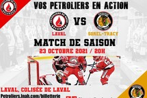 Prochain match local samedi 23 octobre
