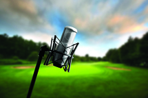 Greg Norman de passage à l'émission radiophonique Au 19e sur les ondes du 91.9 Sports