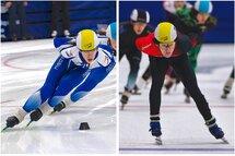 Florence Brunelle et Justin Bergeron ont remporté les Sélections canadiennes juniors tenues à Sherbrooke, les 16 et 17 mars.— Photo Claude Rochon