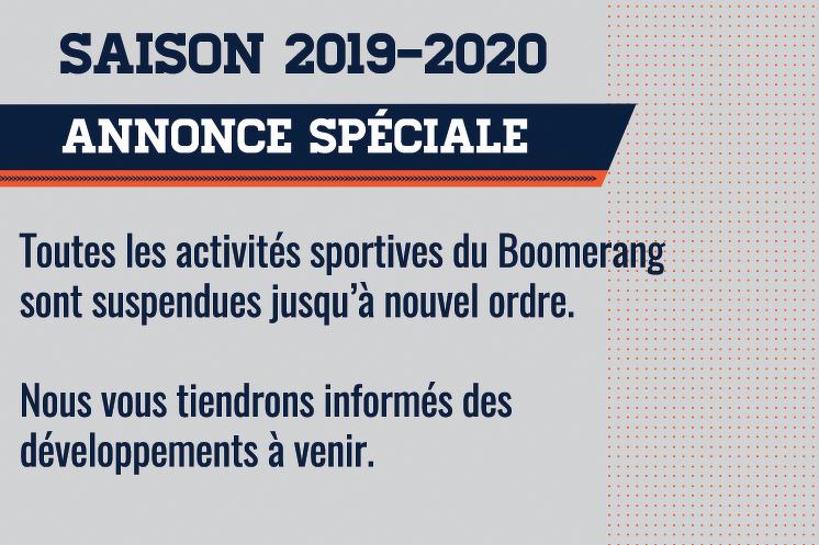 Annonce spéciale - Saison 2019-2020