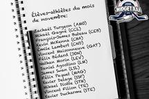 La Ligue midget AAA honore les 15 élèves-athlètes CCM du mois de novembre