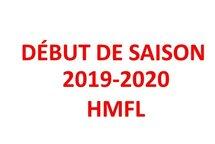 Début de la saison 2019/2020
