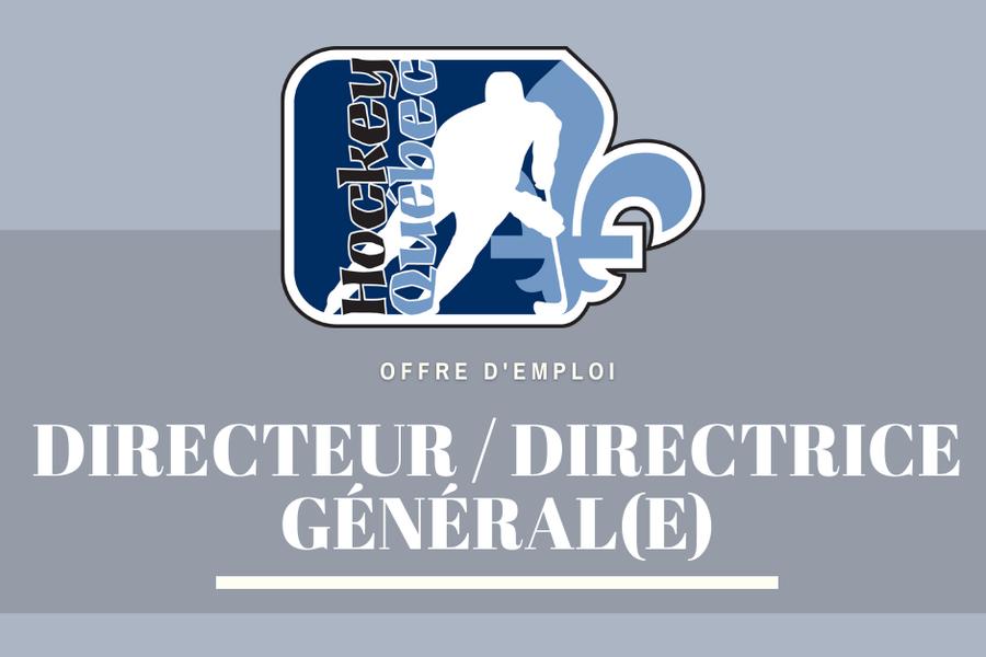 Offre d'emploi Hockey Québec - Directeur Général / Directrice Générale