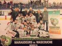 Novice B Maraudeurs Champions Consolation Hull