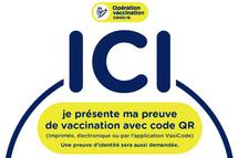 Informations concernant la preuve de vaccination avec code QR