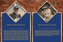 Dévoilement des plaques du Temple de la renommée du baseball québécois RDS de Richard Émond et de François Lemire