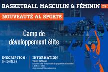 Camp de développement élite de basketball - Crédit photo - Service des communications