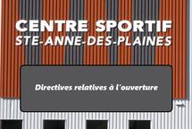 Directives relatives au Centre sportif SADP