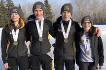 Manitoba wins 13 medals and two overall championship titles at the Canadian Youth Long Track Championships!