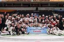 Les Québécois Maxime Comtois et Nicolas Beaudin remportent la médaille d'or au Championnat mondial de l'IIHF