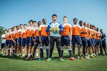 L'équipe de soccer masculin du Cégep André-Laurendeau
