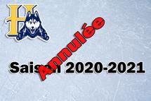 Annulation de la saison 2020-2021