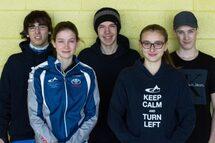 Les patineurs des Cyclones ce week-end.