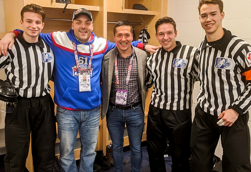 Picture of the officials
