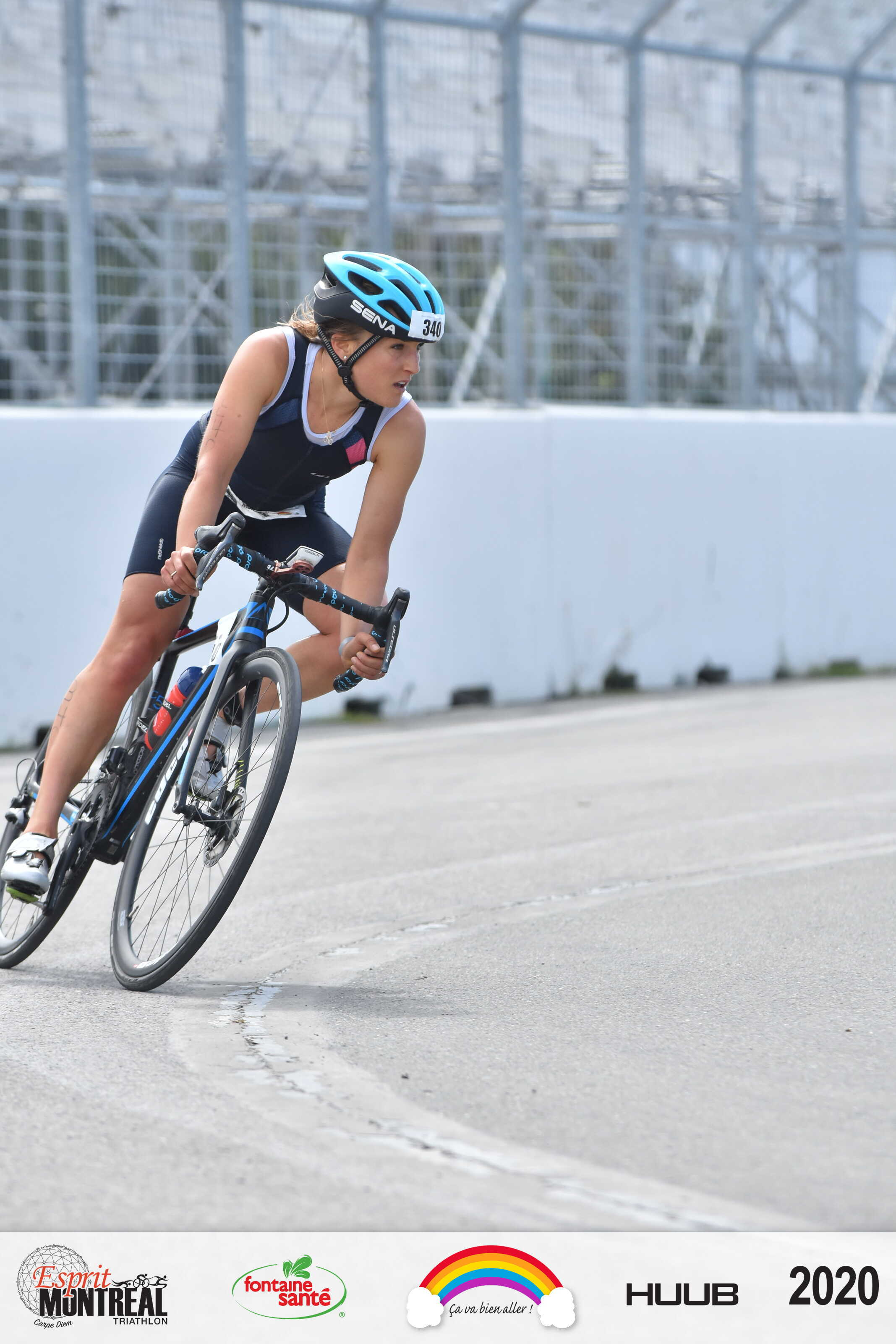 Lex Albrecht, Montreal Esprit Triathlon, Montreal triathlete, sena helmet, sena r1 helmet, Garneau tri suit,