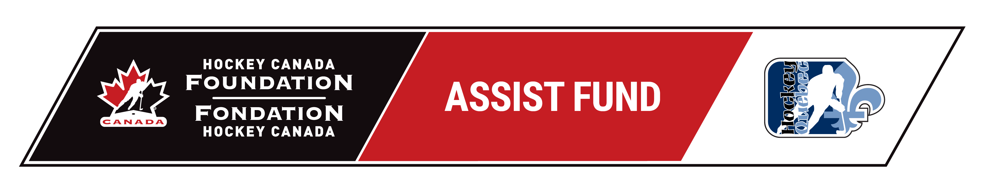 Signature Assist Fund With Hockey Quebec Logo