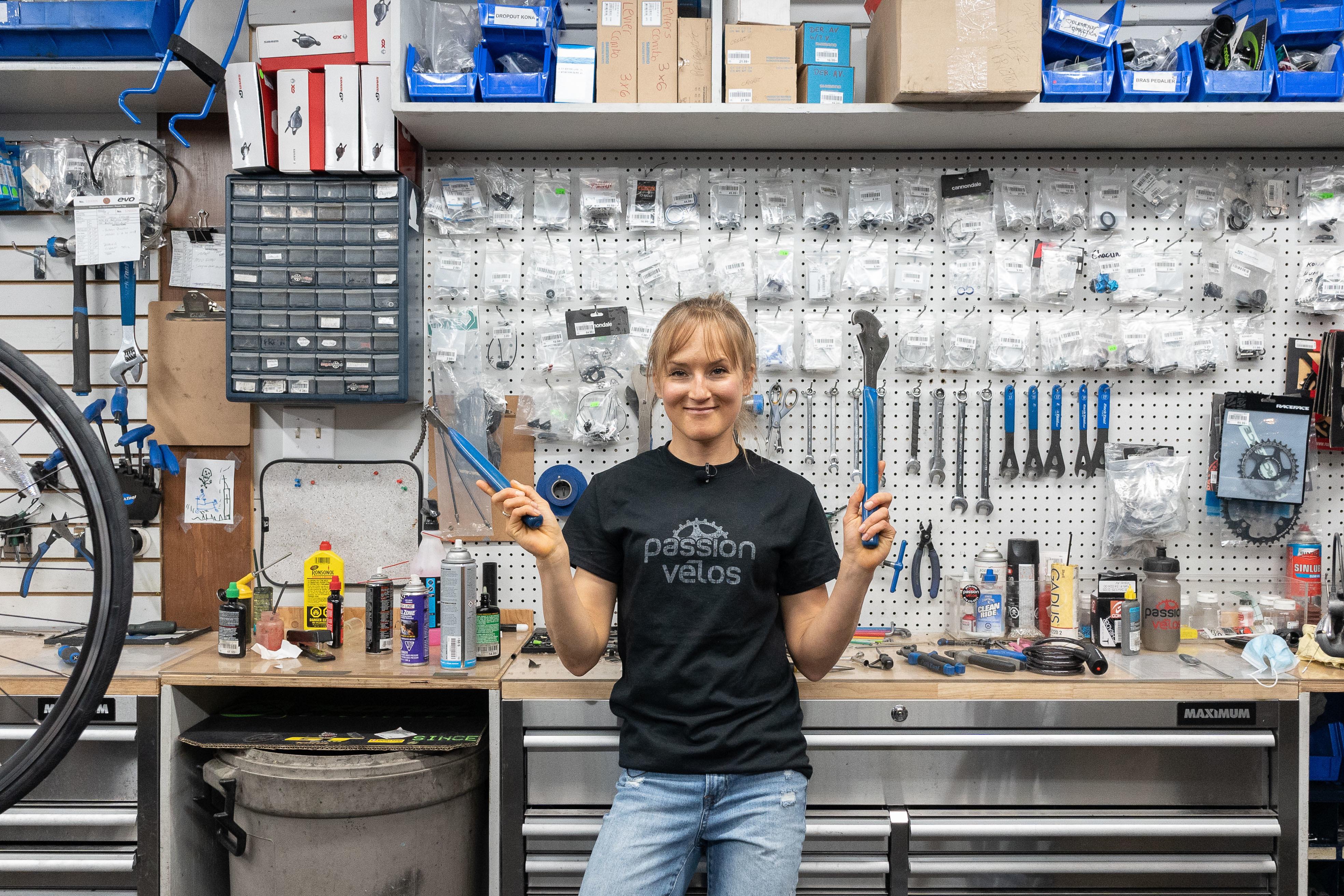 Lex Albrecht, Passion Vélos Trois Rivières, Bike shop, bike tools, how to build a bike