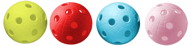 Floorball crater balls