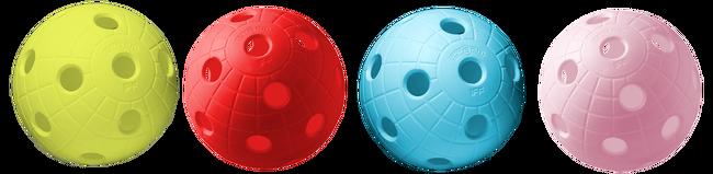 Floorball crater balls