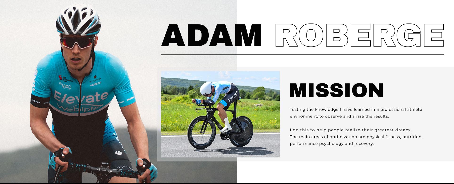 Adam sur un vélo