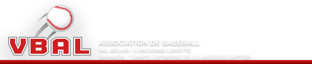 VBAL - Association de Baseball Val-Bélair / L'Ancienne-Lorette / Shannon / Sainte-Catherine-de-la-Jacques-Cartier